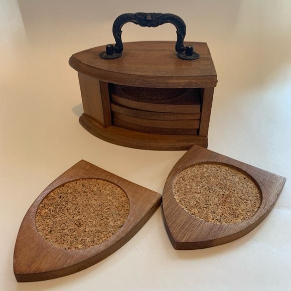 Vintage Other - Wood coasters set of 6
